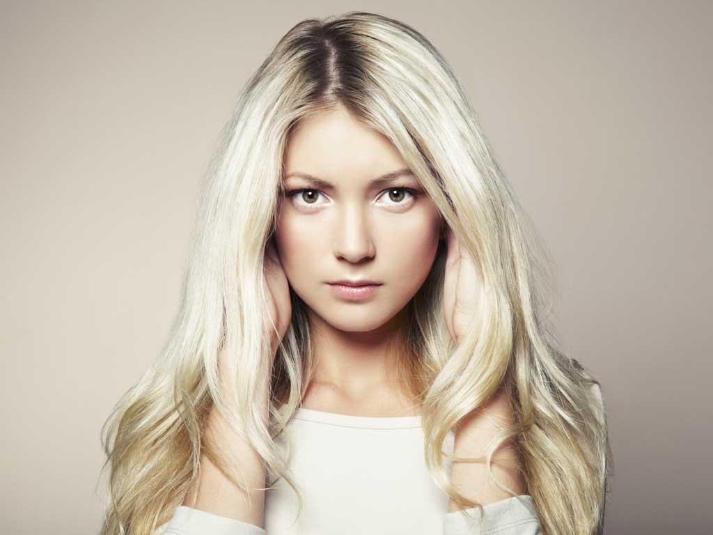 Portrait d'une blonde